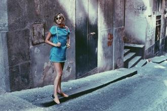 natalie off duty blogger dress sunglasses jewels shoes