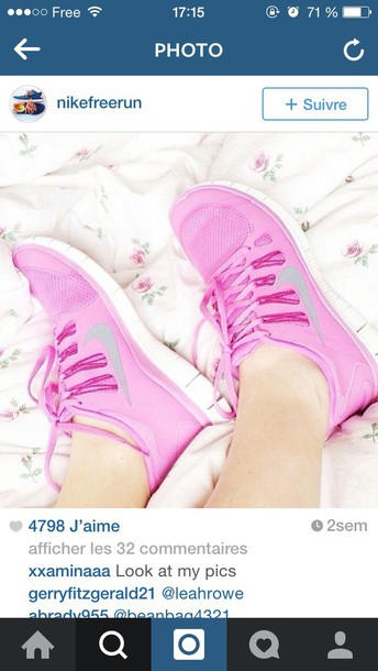 shoes nike running pink