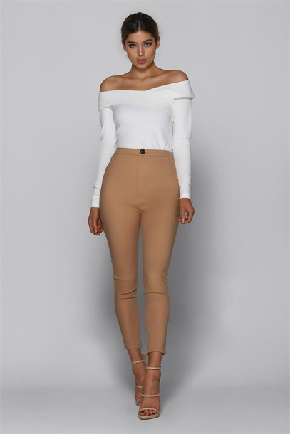 Bad AF Fashion Mia Pants in Camel