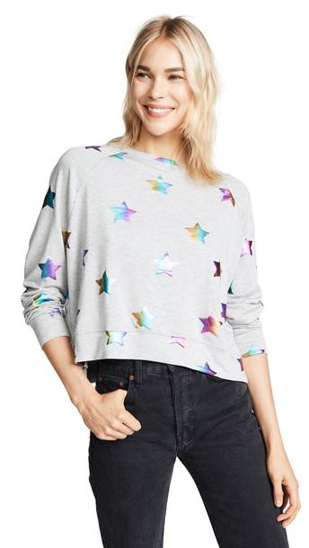 sweatshirt rainbow grey sweater