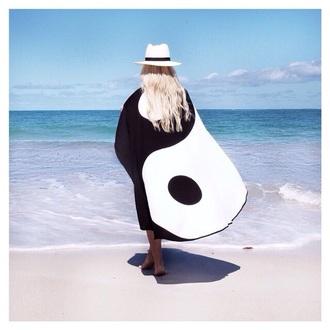 top yin yang gypsy boho kimono beach