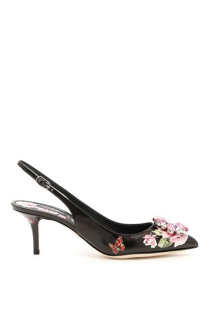 shiny slingbacks rose shoes