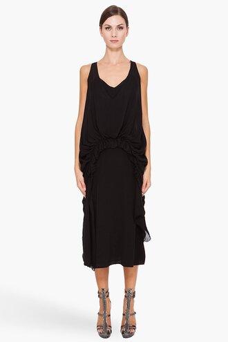 waist dress gathered clothes women long dresses