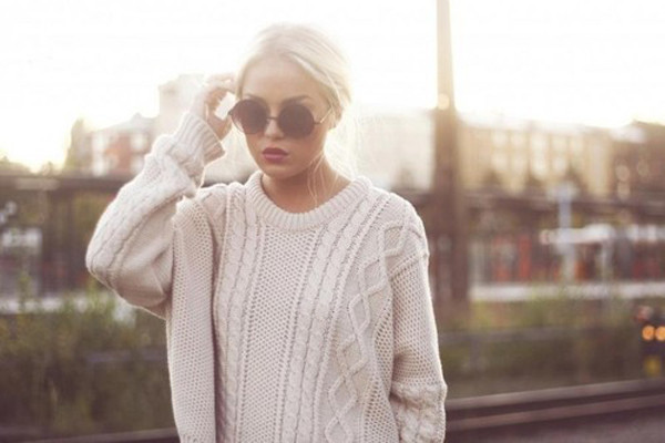 sweater knitted sweater white jumper