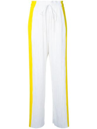 pleated women white pants