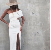 dress,white dress,bodycon dress,off the shoulder,cut-out dress,occassional,wedding,slit dress,one shoulder,summer,pinterest,pink,pink dress,asymmetrical,bodycon,asymmetrical dress,party,party dress,summer dress,summer outfits,pool party,prom,prom dress,short prom dress,girly,girly dress,cute,cute dress,beautiful,date outfit,birthday dress