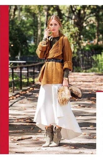 boots olivia palermo sweater fall outfits brown