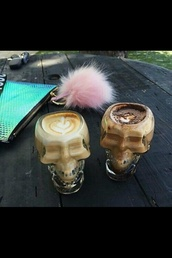 home accessory,skull,glass,mug,cup,kitchen