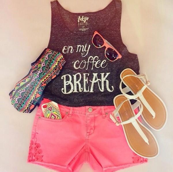 top pink shorts