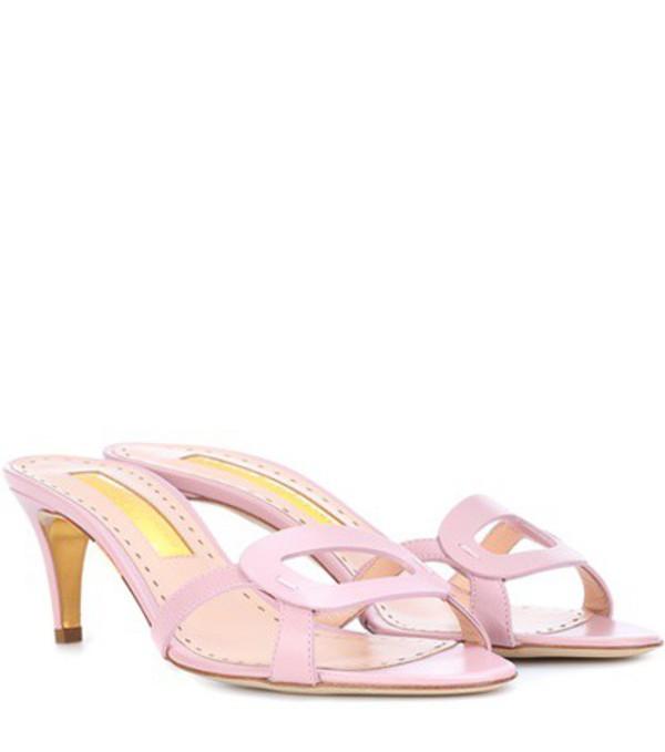 Rupert Sanderson Maeve leather sandals in pink