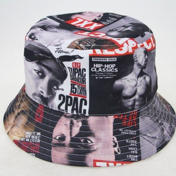 hat 2pac bucket hat swag tupac