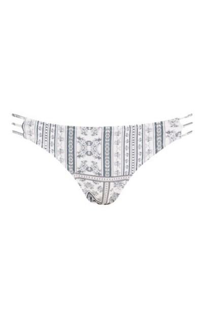 Topshop bikini bikini bottoms strappy bikini strappy floral monochrome swimwear