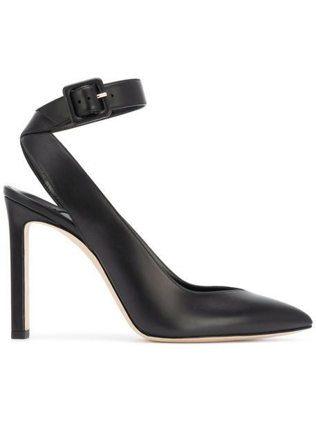 women 100 pumps leather black shoes