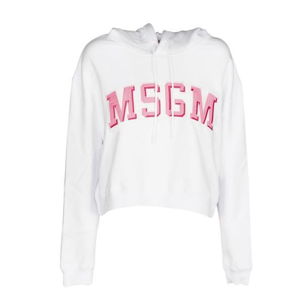 MSGM sweatshirt cropped white sweater