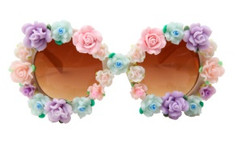 C'est La Vie Baroque Sunglasses- White – Glamzelle
