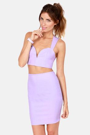 Sexy Lavender Top - Bustier Top - $34.00