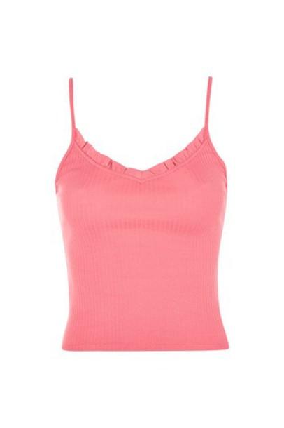 Topshop vest strappy pink jacket