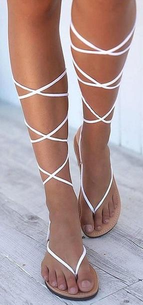shoes white straps white strap sandals sandals white sandals