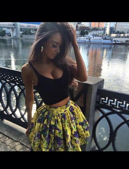 yellow yellow skirt floral skirt hot high waisted skirt cute skirts dress