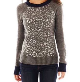 sweater sparkle grey
