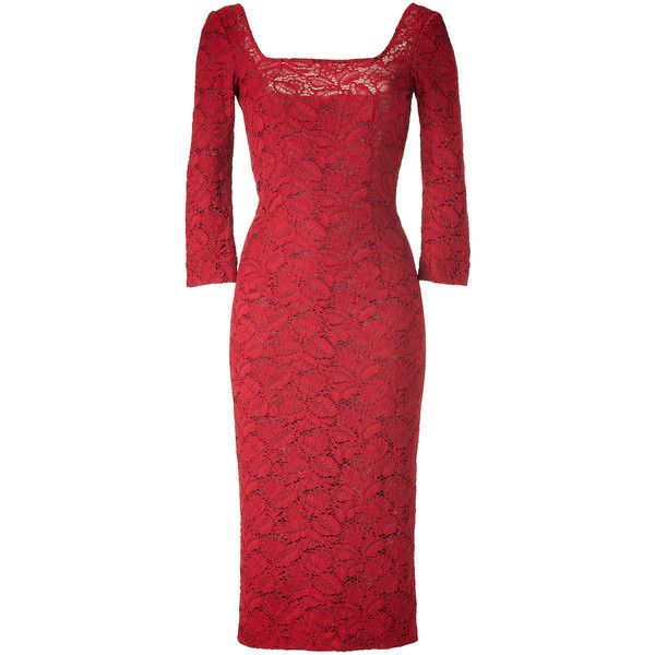 L'WREN SCOTT Red Leaves Lace Dress - Polyvore