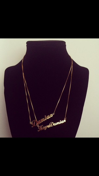 jewels 18k gold plated necklace