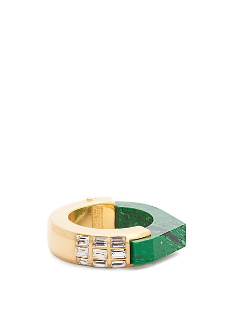 CERCLE AMEDEE ring green jewels