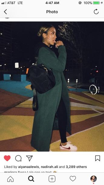 coat jacket green trench coat