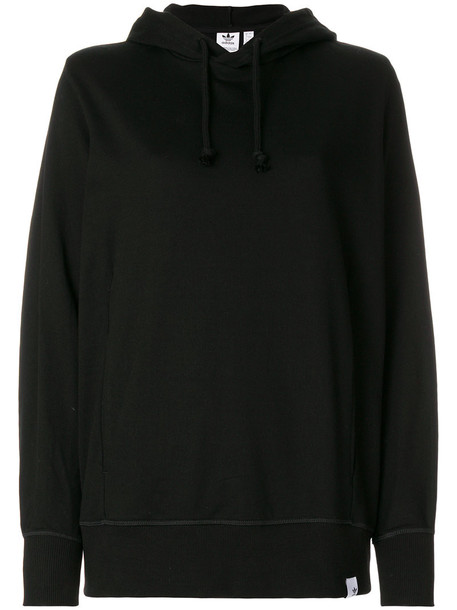 Adidas hoody women classic cotton black sweater