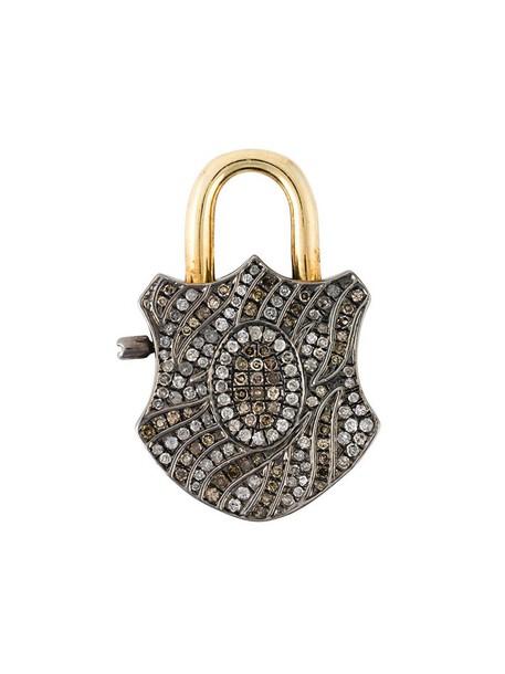 Gemco women pendant gold silver grey metallic jewels