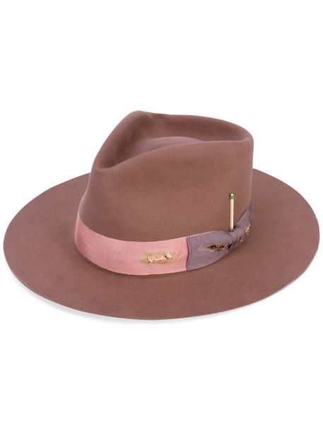 1064abe6 Nick Fouquet Nick Fouquet - 'The Belcampo' hat - women - Beaver Fur - 57,  Pink/Purple, Beaver Fur