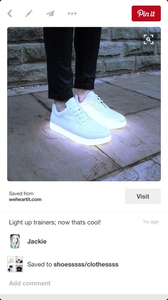 shoes neon light white shoes beam light shoes sneakers nike adidas