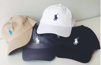 hat girl girly girly wishlist tumblr polo shirt polo hat white nue black blue trendy ralph lauren