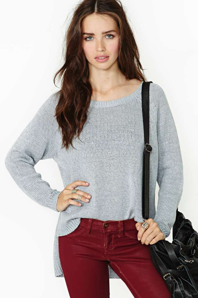 Nasty gal silver lining sweater  in  clothes at nasty gal