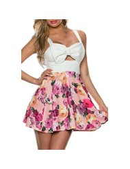 Amazon.co.uk: dear-lover sweet blooming flower skater dress - Women: Clothing