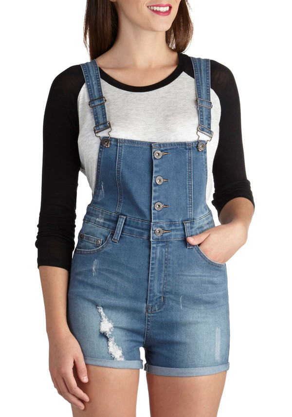 shorts denim overall shorts