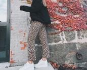 pants,leopard print pants