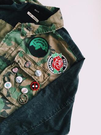 jacket camouflage rock