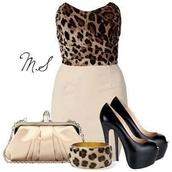 dress,leopard print,one piece