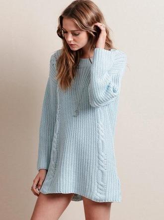 sweater girl girly girly wishlist blue blue sweater sweater dress knit