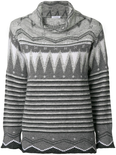 jumper women knit grey sweater