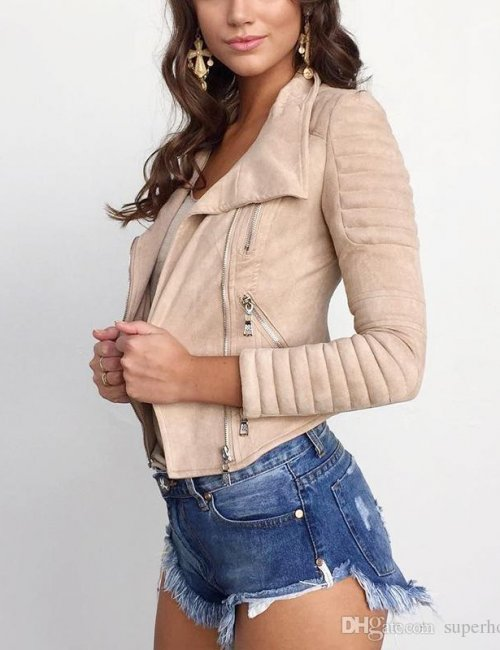 Women's Faux Leather Suede Jacket