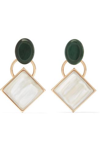 earrings gold cream jewels