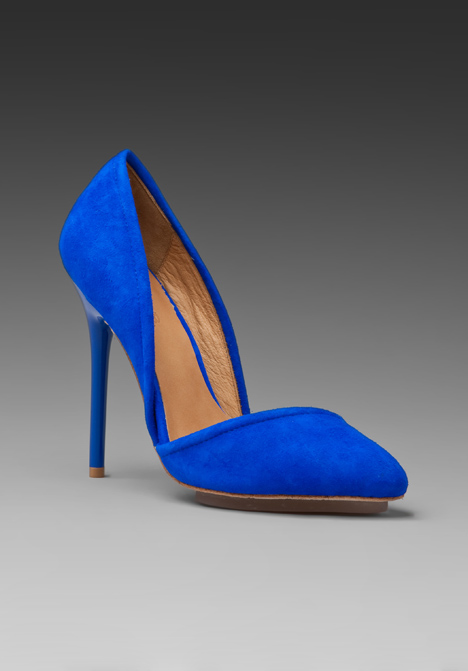 Meridith Suede Heel in Electric Blue at Revolve Clothing - Free ...