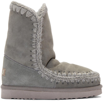 boots grey 24 shoes