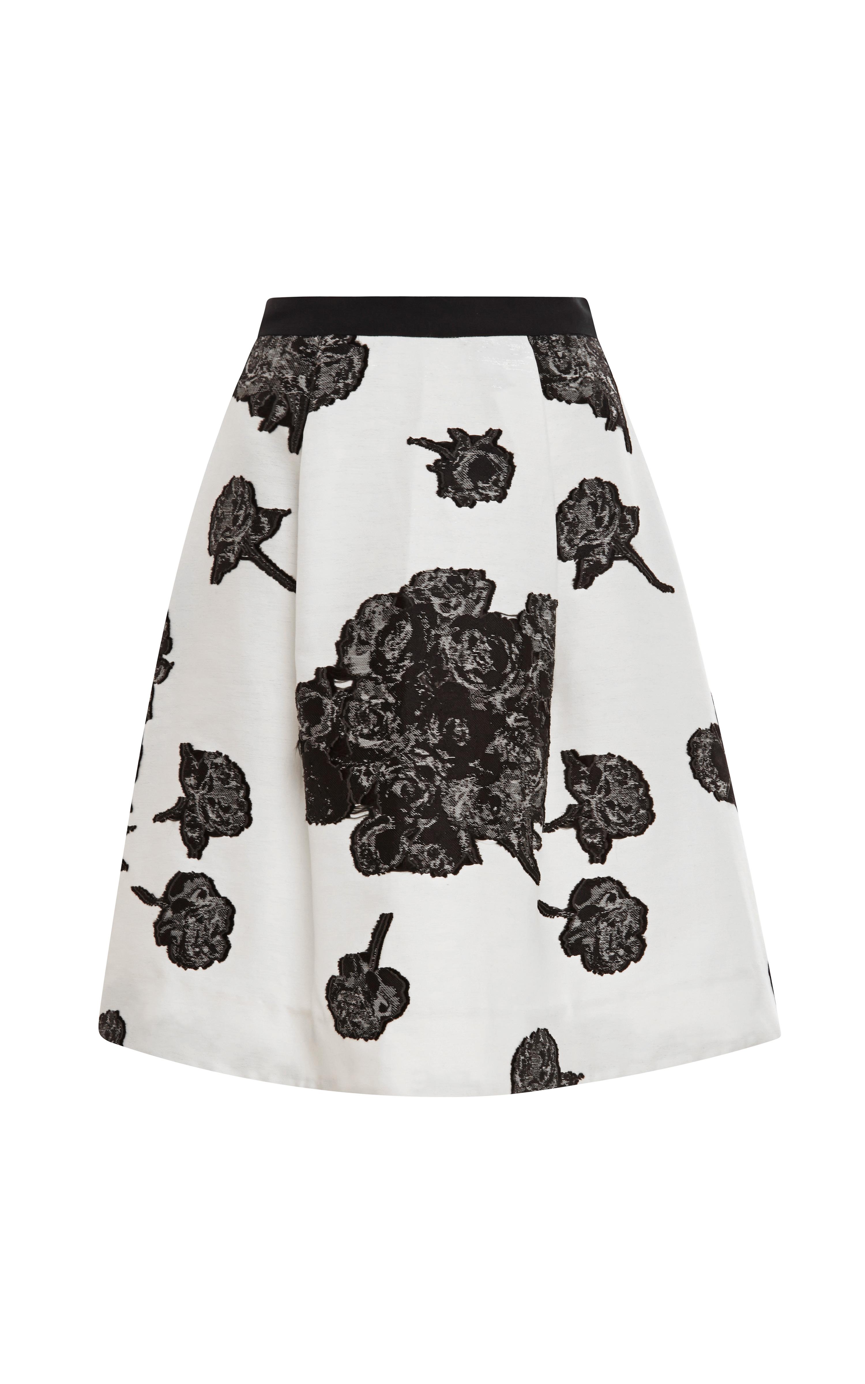 Ella Floral Jacquard Skirt by Tanya Taylor - Moda Operandi
