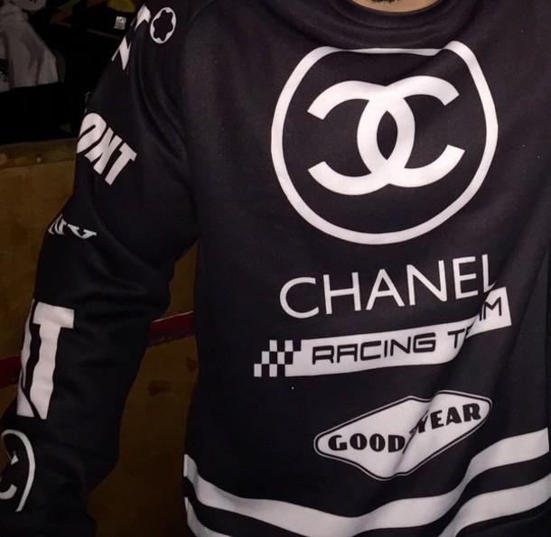sweater menswear chanel