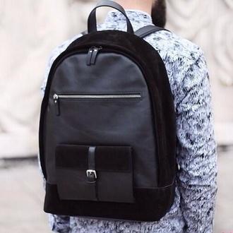 bag black backpack leather backpack school bag classy fashion designer backpack menswear mens accessories lookbook hipster wishlist