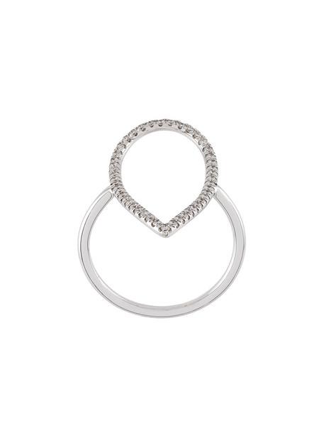 Diane Kordas women ring gold white grey jewels
