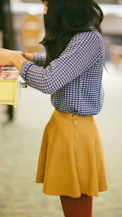 skirt,mustard yellow skirt,yellow,yellow skirt,cute,short